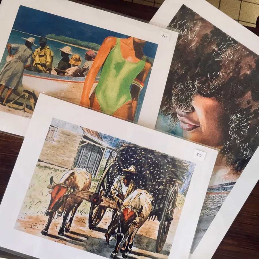 lithographie - Chez Zèles Marie Galante